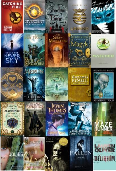 recent & upcoming ya books to movies